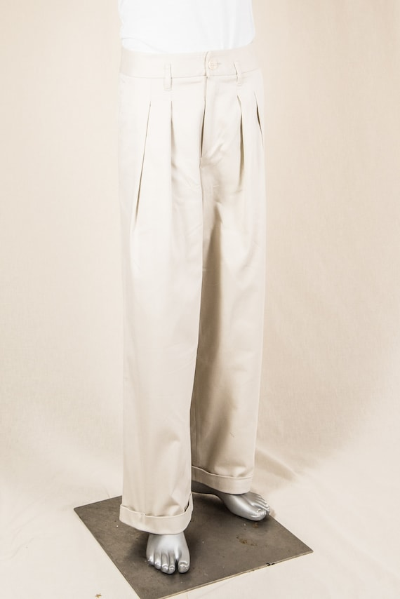 Men's Vintage Pants, Trousers, Jeans, Overalls Wide-Legged Swing Trousers $169.61 AT vintagedancer.com