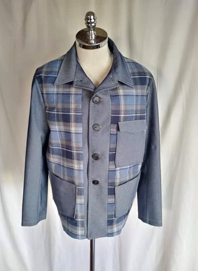 Men's Vintage Jackets & Coats 1940s Leisure Jacket 65Shillings $167.07 AT vintagedancer.com