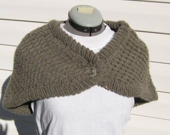 Pure Wool Capelet