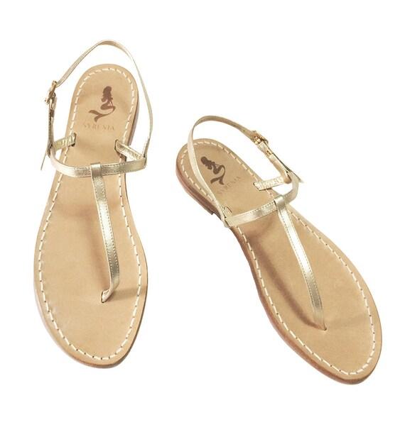 Gold Flat Handmade In Capri ItalyEtsy Sandals Leather 0O8Nwmvn