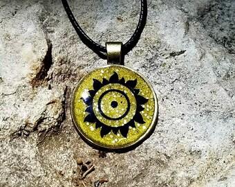 Litha / Summer Solstice / Midsummer Sun Pendant Necklace