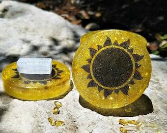 Litha / Summer Solstice / Midsummer Mini Crystal Charging Plate