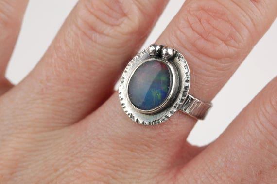 Handmade Sterling Silver Triplet Ring