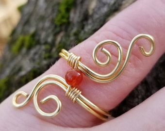 Wire Wrapped Ring, Spiral Ring, Wire Ring, Boho Ring, Gypsy Ring, Free Spirited Ring, Gift For Her, Handmade Wire Ring, Statement Ring