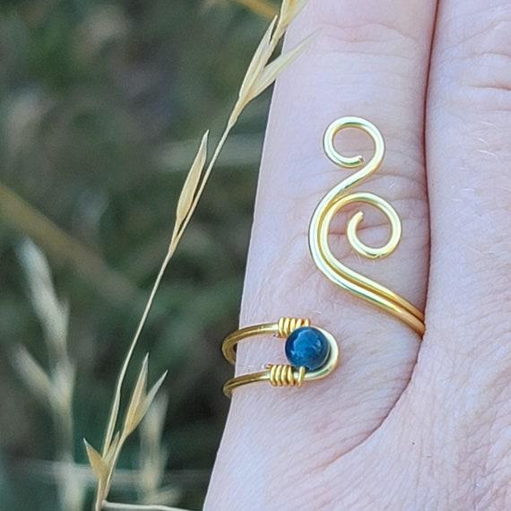 boho ring spiral ring Brass ring handmade ring