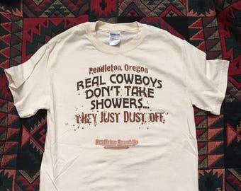 Pendleton Round Up T-Shirt - Real Cowboys Don't Take Showers