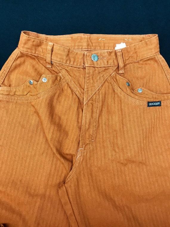 Dead Stock Rockies jeans rust twill high waist tap