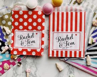 Personalised sweet bags | Etsy