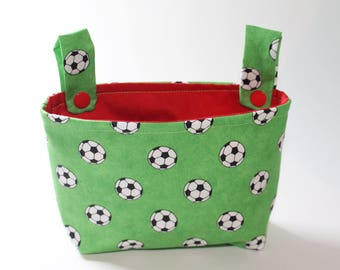 Handlebar bag for wheel football