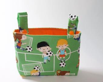 Handlebar bag for wheeled football children