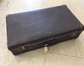 """Vintage suitcase, dark brown """"Vulkanfiber"""""""