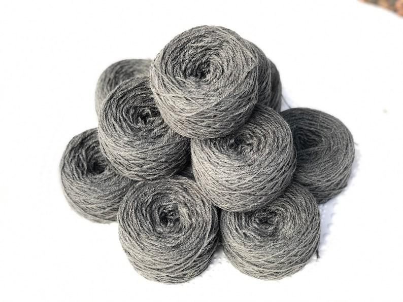 Tufting wool Hand knitting yarn 100g wool yarn Grey wool yarn Lithuania wool yarn Europe wool yarn Light worsted