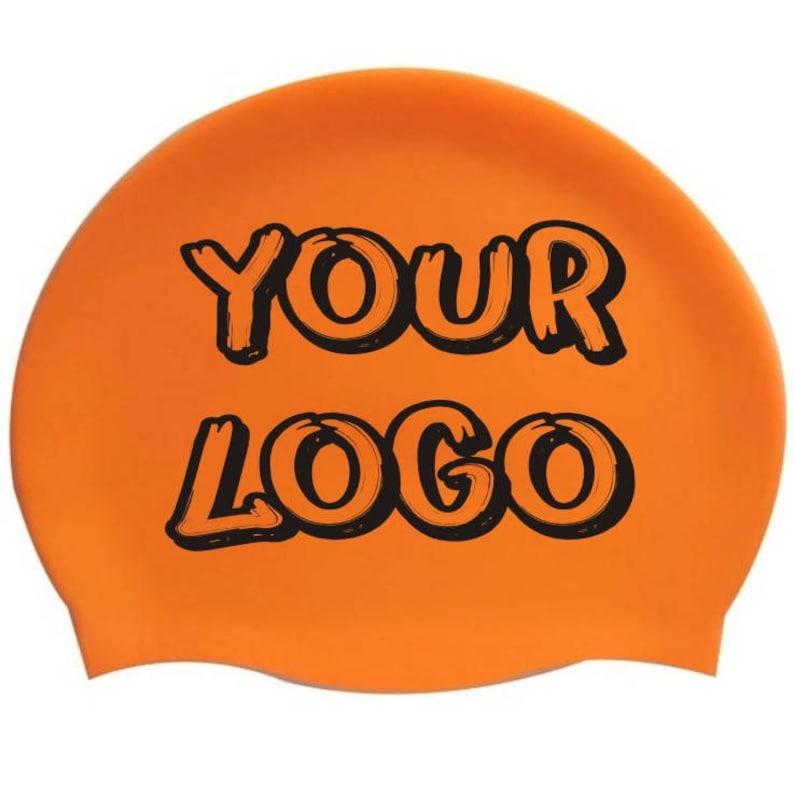 Silicone swim cap custom print
