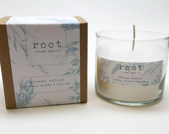Root Stress Relief Candle