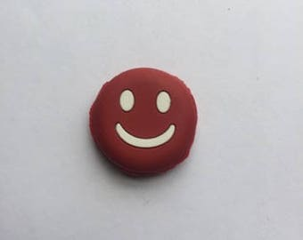 Red Rubber Smiley Face Emoji