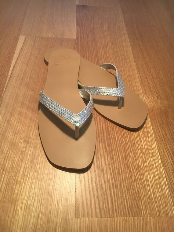 cbb909faa Swarovski Crystal Sandals Wedding Flip Flops Bridal