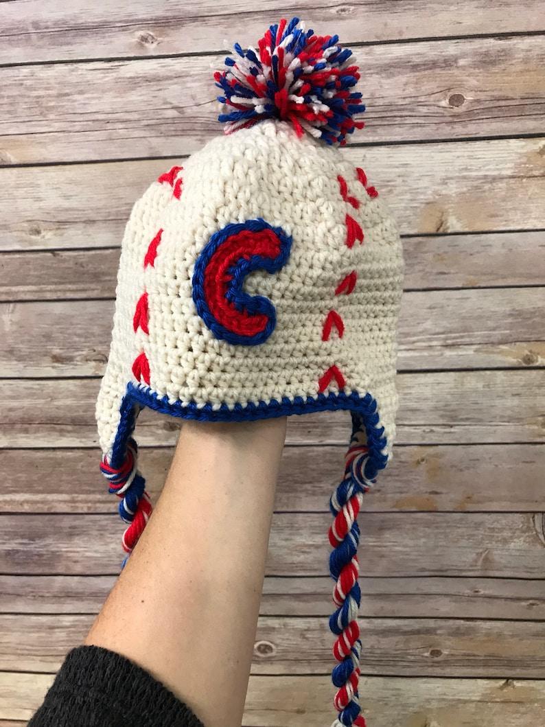 b27895cc70c0dc Chicago Cubs knit hat   Etsy