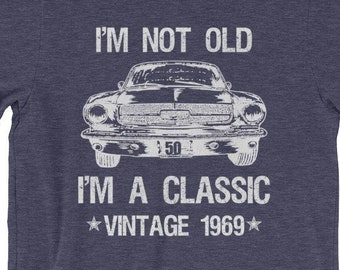 CLASSIC 1967 FORD GALAXY ILLUSTRATED T-SHIRT MUSCLE RETRO SPORT CAR