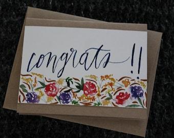 Congrats! 4 Printed Cards