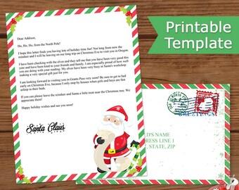 Letter From Santa Printable, Santa's Letter, Christmas Letter From Santa, Letter From Santa Claus, Includes Envelope, Santa's List