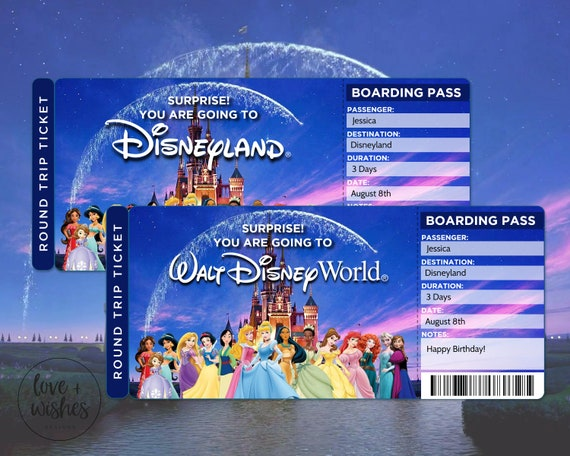 Surprise Disney Reveal Boarding Pass