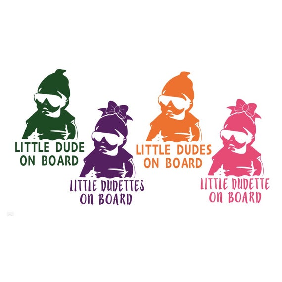 Cool Dudette On Board Personalised Baby Girl Car Sign