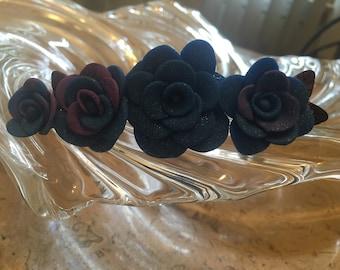 Cosmic roses roses barette