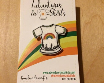 Rainbow T-shirt shrinkie pin