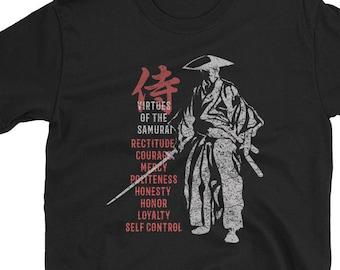 Samurai Bushido's Eight Virtues t-shirt