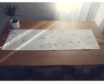 Printed cotton twill and cotton canvas Runner