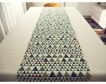 Tablecloth 6/12 people in printed cotton twill and cotton canvas