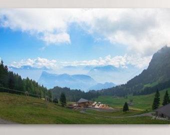 Mountains, Wall Art, Mt Pilatus, Switzerland, Digital Download, Mountain Wall Art