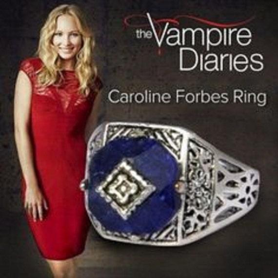 Anello solare Caroline Forbes The Vampire Diaries pietra lapis Diari Vampiro TVD