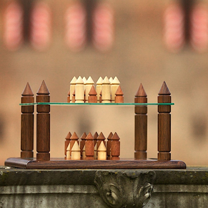 Wooden and glass strategy game image 0
