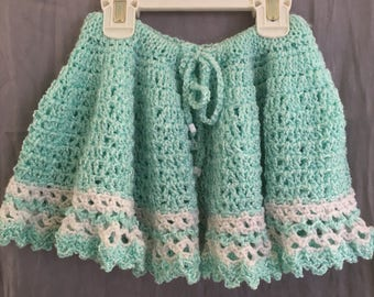 Lacy handmade lightweight crochet skirt