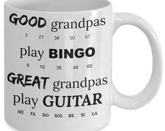 Coffee Mugs Guitar Good Great Grandpas Funny Gift for Guitarist