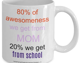 Coffee Mug Best Mom Funny Awesome Men Women Kids Life Gift