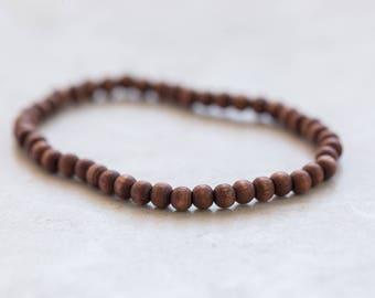 Dark Wood Bracelet, Wood Jewelry, Stack bracelet, Jewellery gift