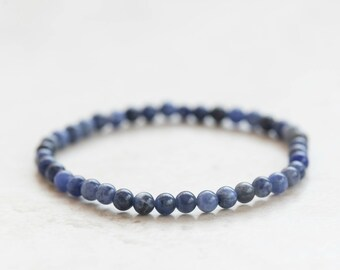 Sodalite Bracelet, Sodalite Jewelry, Stack bracelet, Jewellery gift