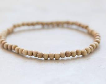 Light Wood Bracelet, Wood Jewelry, Stack bracelet, Jewellery gift