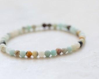 Rainbow Amazonite Bracelet, Amazonite Jewelry, Stack bracelet, Jewellery gift