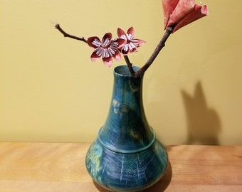 Decorative Green Vase - Flower Not Included