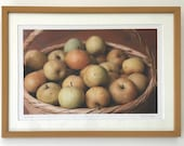 Framed photo of Nashi Pears in a Basket