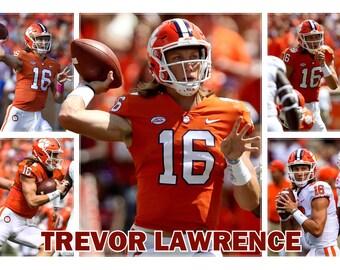 47e4a9d1b Clemson Quarterback Trevor Lawrence Commemorative Poster