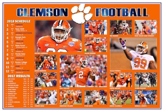 College Ncaa 2019 Clemson Tigers Football Schedule Poster W Free Pocket Schedule Sports Mem Cards Fan Shop Cub Co Jp