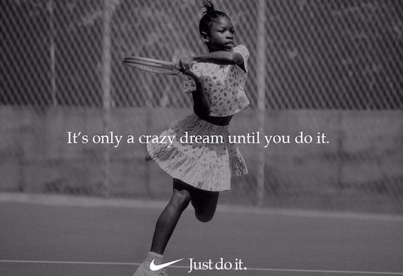 fiabilidad Coincidencia radioactividad  Serena Williams 'Just Do It' Replica Nike Ad Poster   Etsy