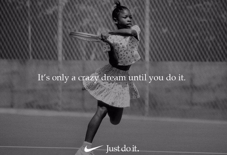 62b2592524323 Serena Williams  Just Do It  Replica Nike Ad Poster