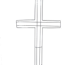 Cross Wreath Making Form
