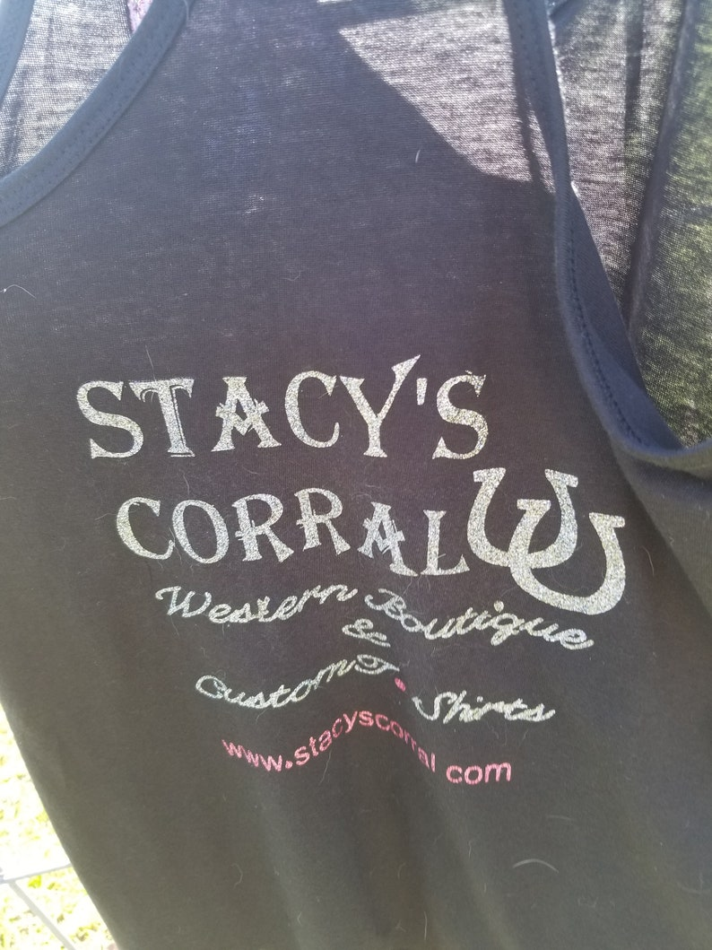 8237fa3df03be Stacy's Corral T-shirts. Custom made to order. Many designs to choose from.