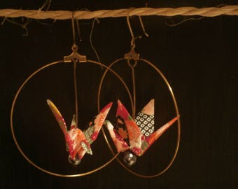 Origami earrings - hoops